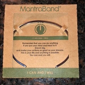 """NIP MantraBand Silver cuff  """"I can and I will"""""""